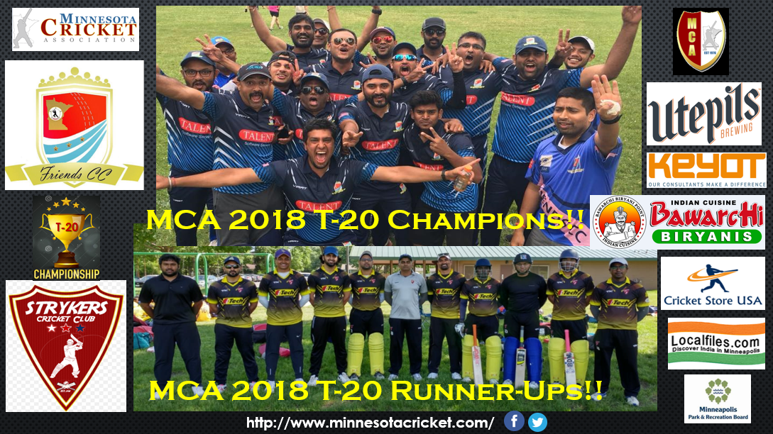 Friends CC – 2018 T-20 Champions!