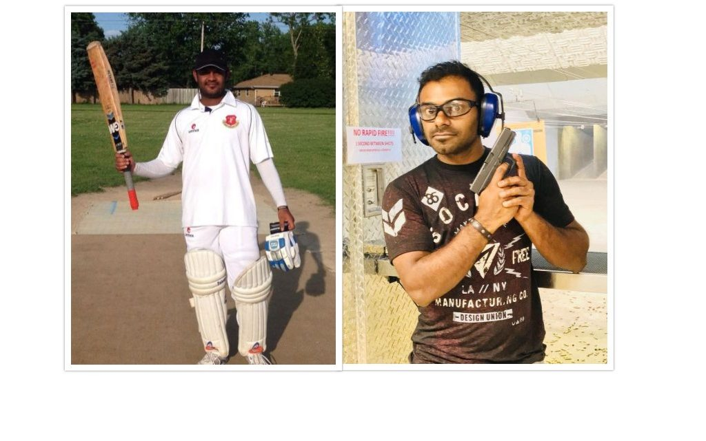Two centuries in a game by Javed Khan Pathan and Mohan Mogilisetty.