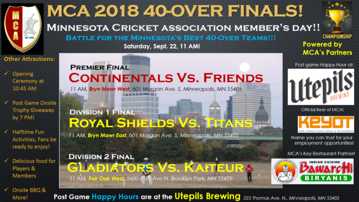 MCA 2018 40-Over Finalists