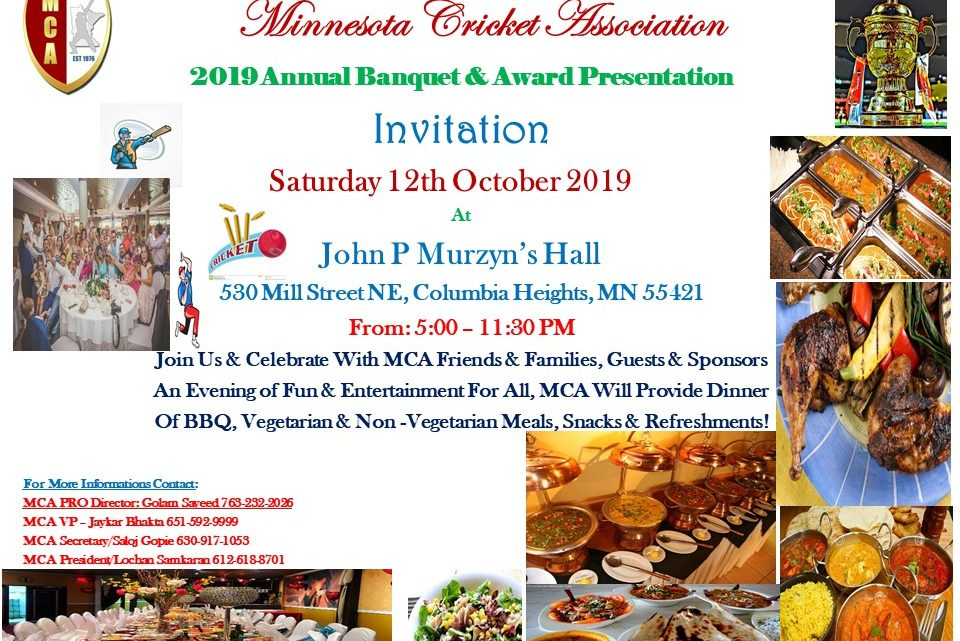 2019 MCA Banquet – October 12