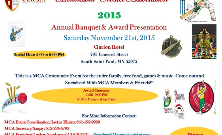 2015 MCA Banquet and Award Presentation – Nov 21st