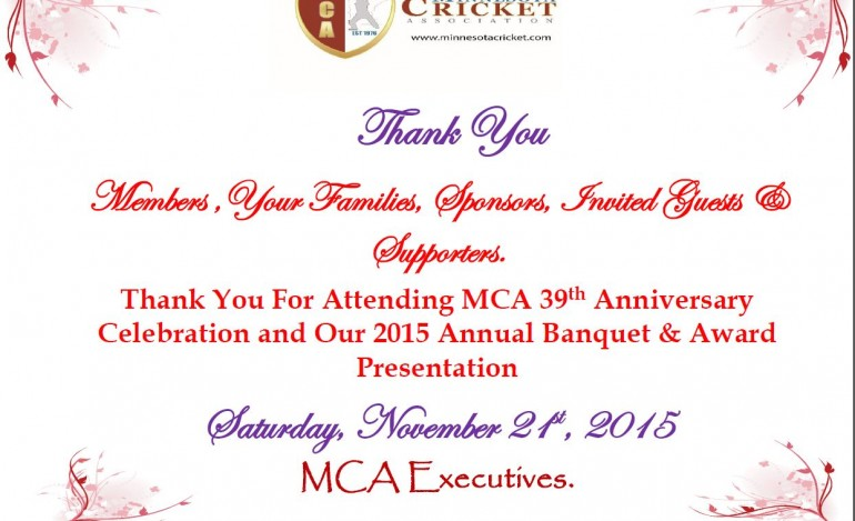 Thank you from MCA President's Office – Lochan Samkaran